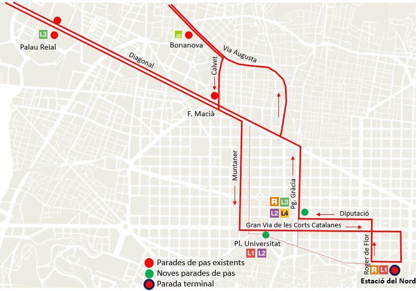 Parades de les línies a Lleida, Berga i Puigcerdà. Imatge: Ajuntament de Barcelona.