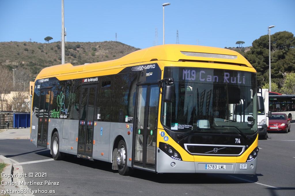 Volvo 7900 Hyb de Tusgsal amb calca 714 / Carlos Martínez