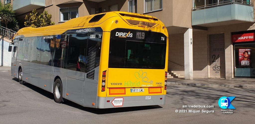 Volvo 7900 Hyb de Tusgsal amb calca 716 / Miquel Segura